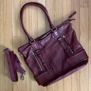 Cole Haan Plum Leather Tote Bag